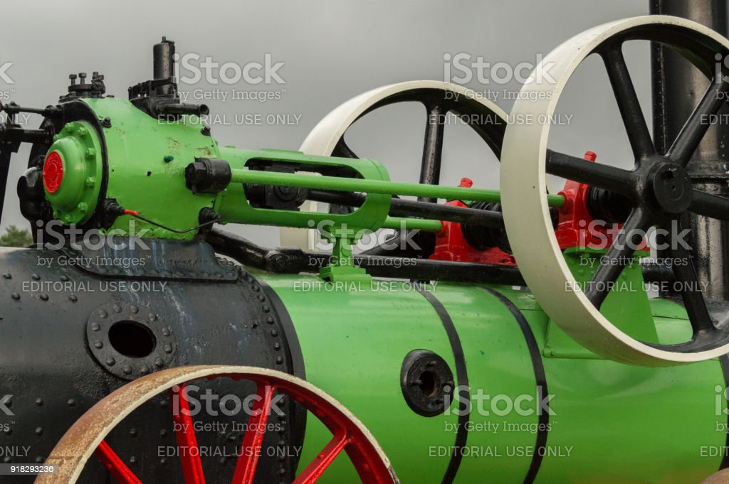 Detail of a steam engine stock photo