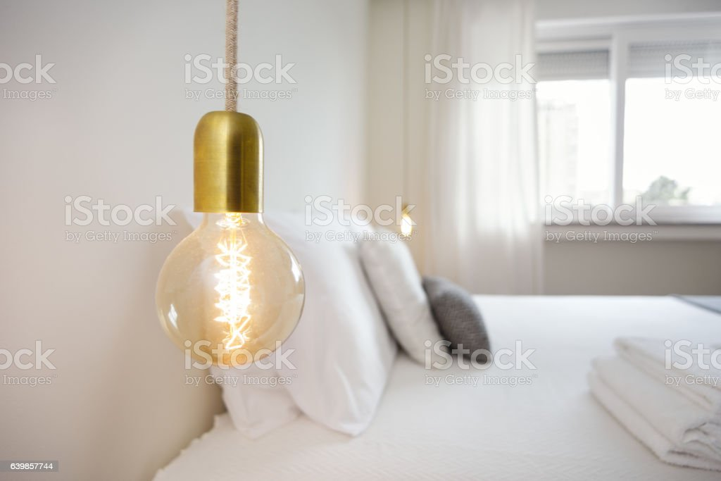 Detail of a Stylish Lightbulb stock photo