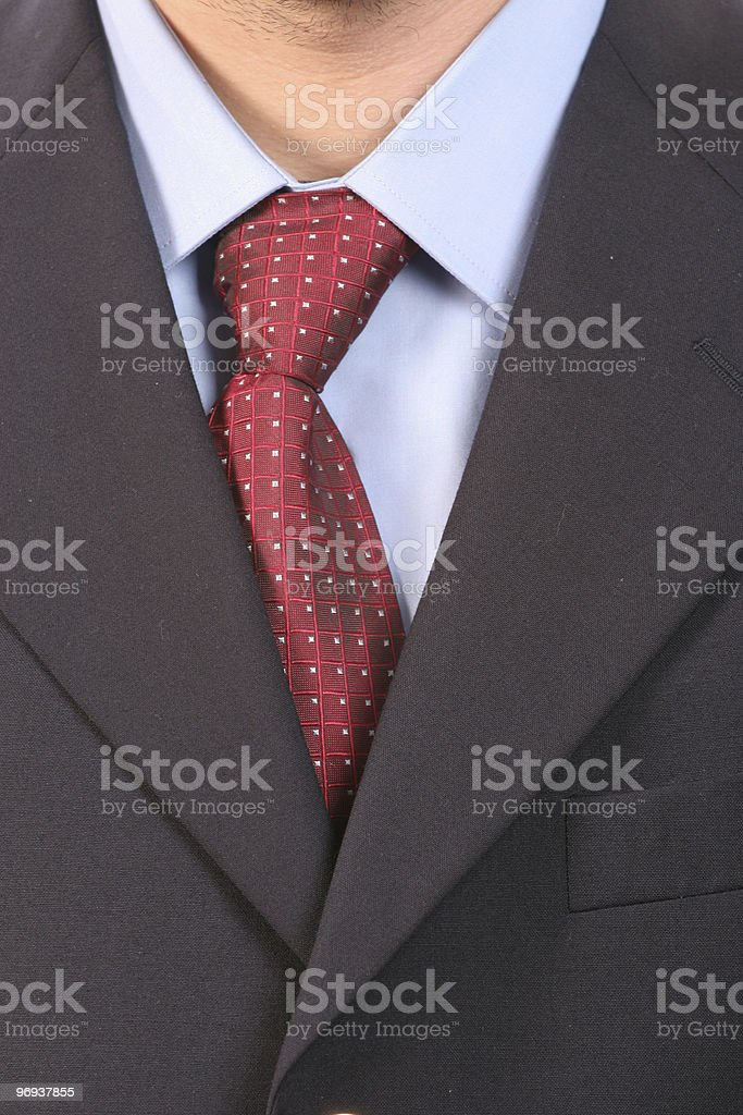 Detail of a suit and tie royalty-free stock photo