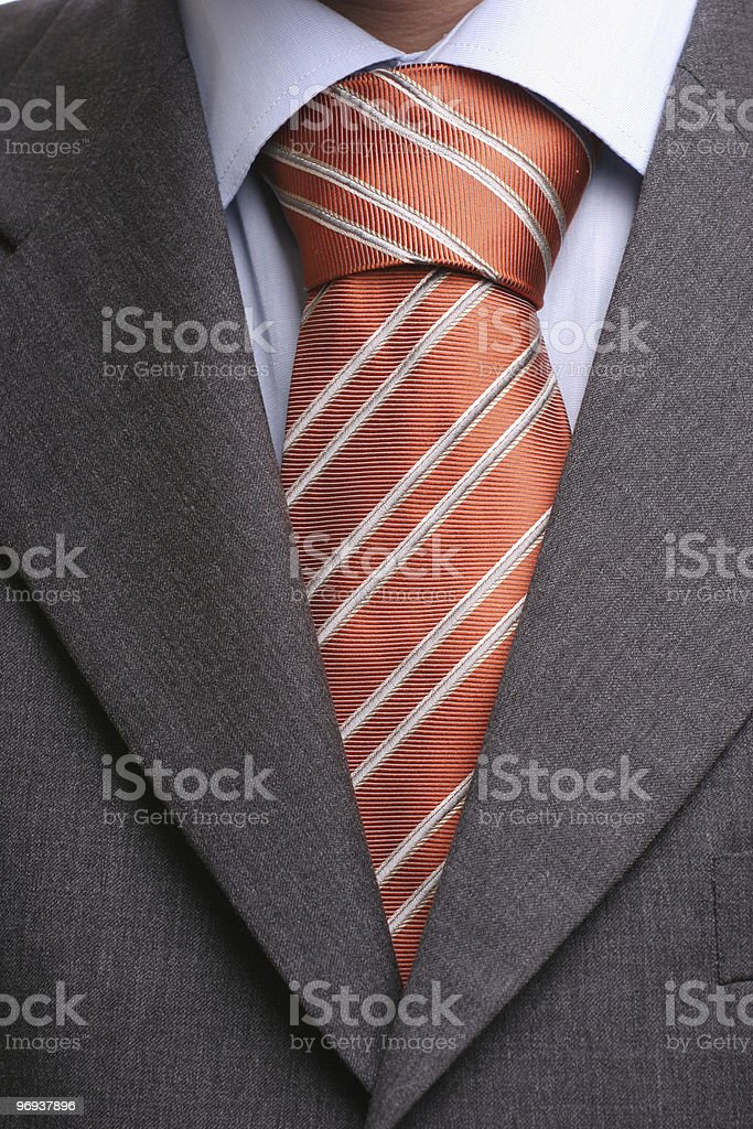 Detail of a suit and tie stock photo