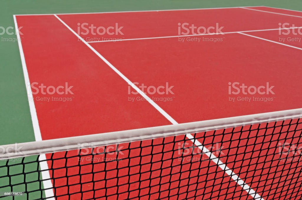 Detail of a tennis court stock photo