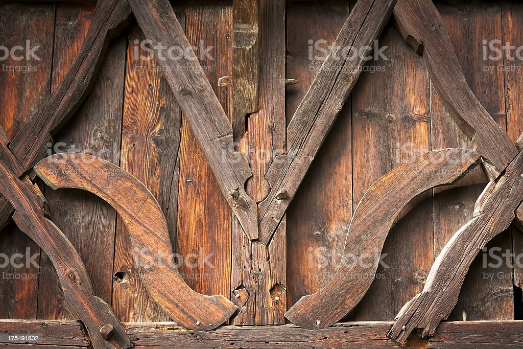 Detail of a timber construction stock photo