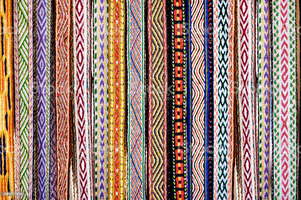 Detail of a traditional Lithuanian weave stock photo