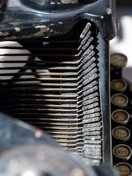 Detail of a typewriter stock photo
