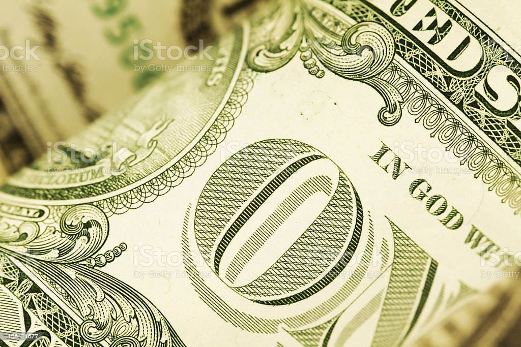 Detail of a US Dollar Bill (High Resolution Image) royalty-free stock photo