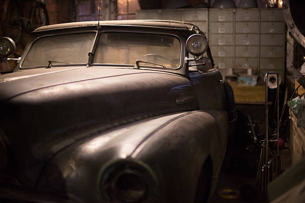 detail eines alten amerikanischen autos, talad rot fai, bangkok - alten muscle cars stock-fotos und bilder
