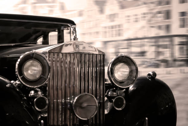 detail of a vintage luxury car - foto stock