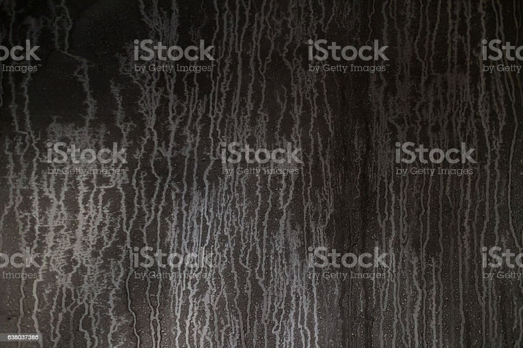 Detail of a wall destroyed by fire stock photo