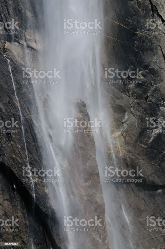 Detail of a Waterfall stock photo