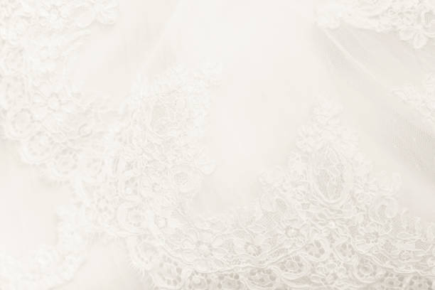 Detail of a wedding dress Detail of a wedding dress with decorations perfect for backgrounds. lace textile stock pictures, royalty-free photos & images