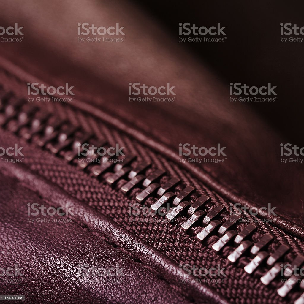 Detail of a Zip royalty-free stock photo