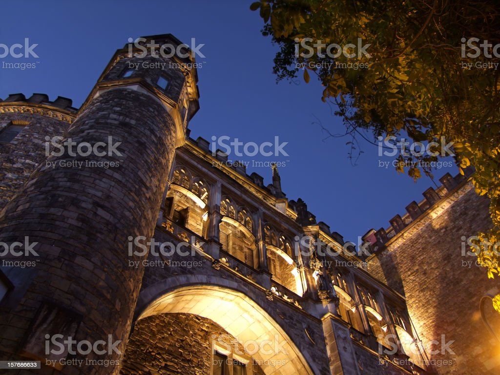 Detail of Aachen City Hall (Rathaus) royalty-free stock photo