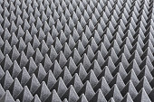 Detail of Acoustic Foam in Recording Studio