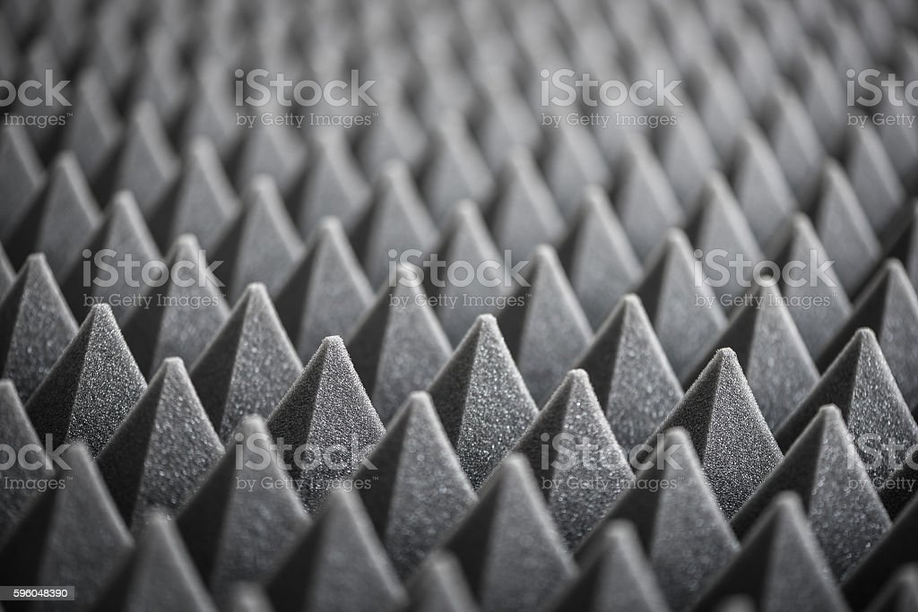 Detail of Acoustic Foam in Recording Studio stock photo