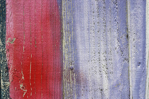 wood background red and lilac - whiteway graffiti stock photos and pictures