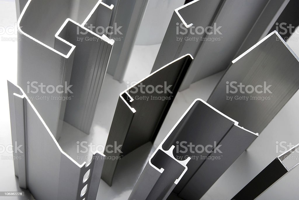Detail Of Aluminium Profiles Stock Photo & More Pictures of Abstract