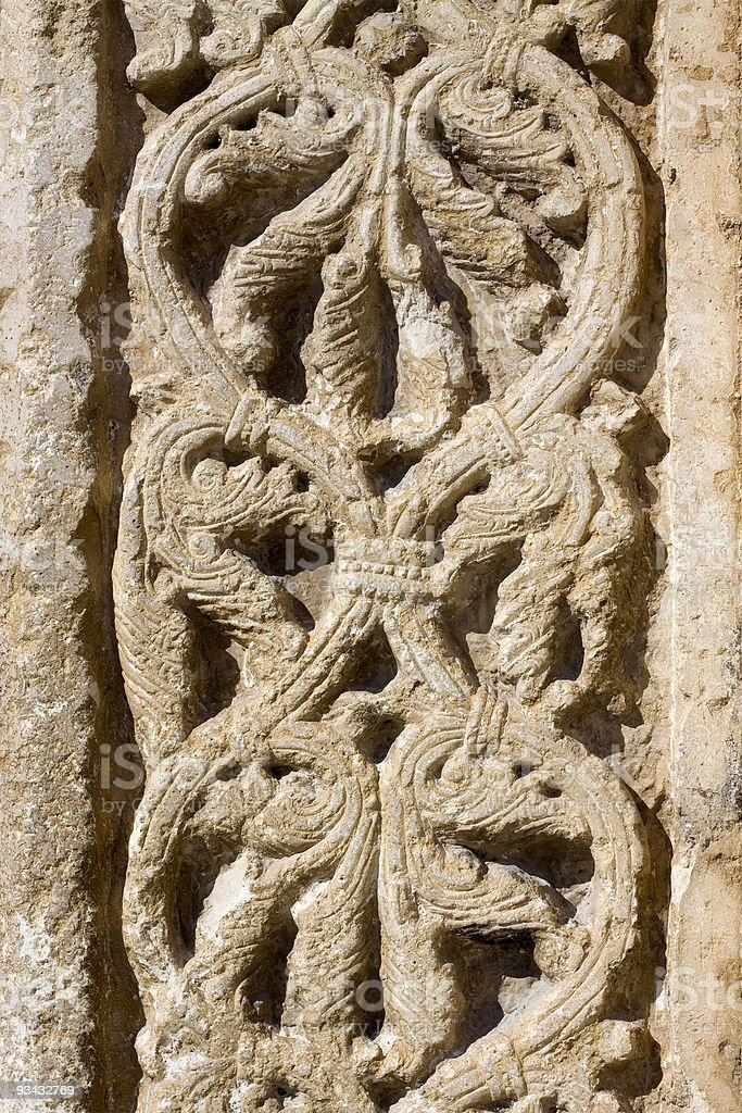 Detail von einem alten bas relief Lizenzfreies stock-foto