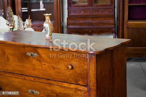 Detail of an ancient italian furniture just restored - Italian culture