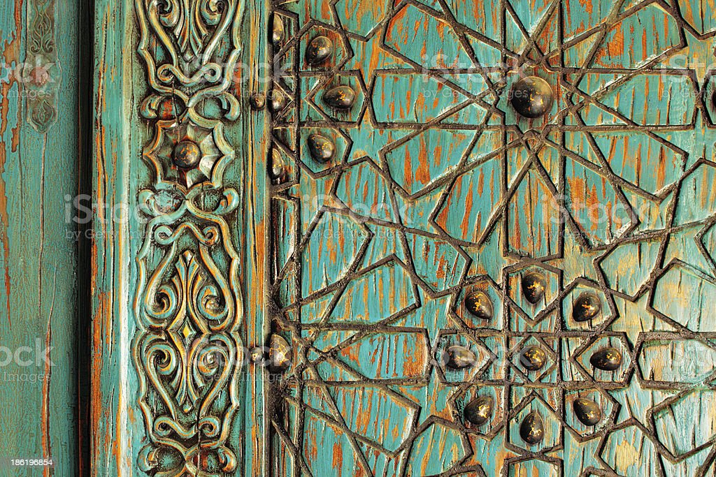 Detail of an ancient ottoman door stock photo