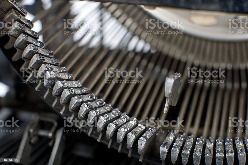 Detail of an ancient typewriter royalty-free stock photo