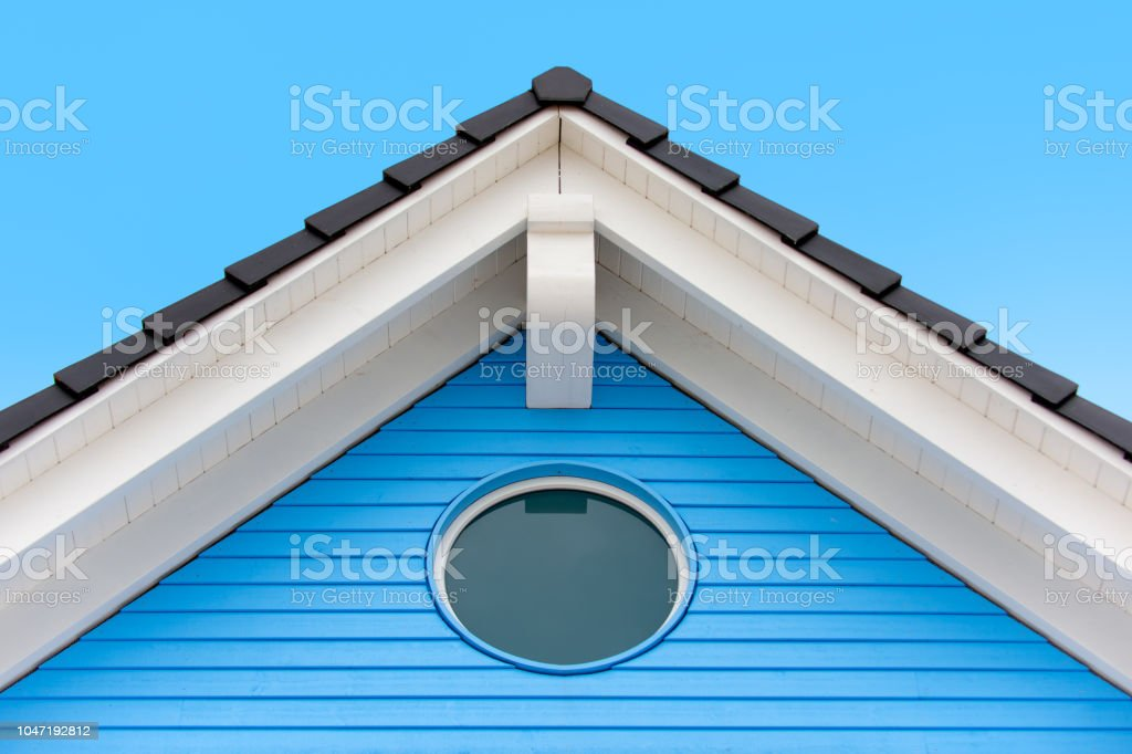 Detail of an house roof in the summer stock photo