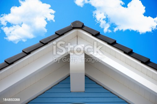 istock Detail of an house roof in the summer 184850088