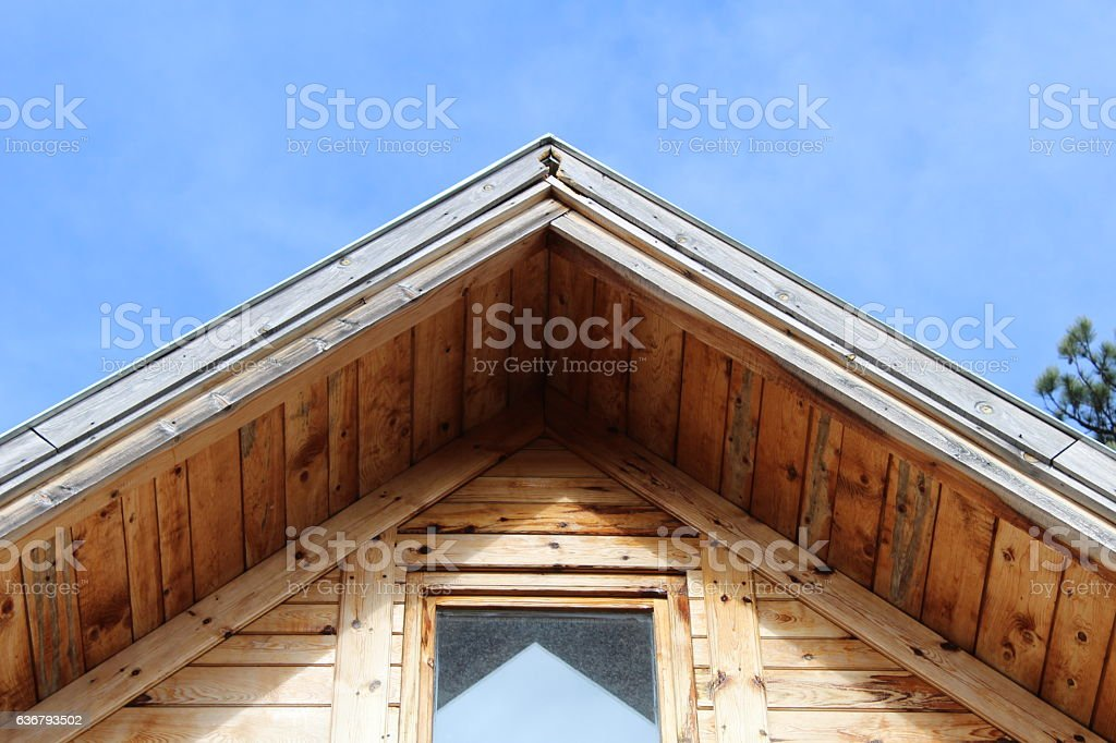 Detail of an house roof stock photo