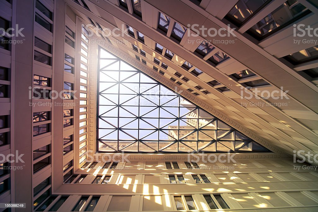 Detail of an office building stock photo