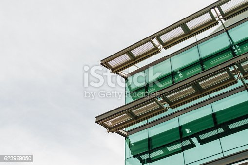 istock Detail of an office building with glass windows 623969050