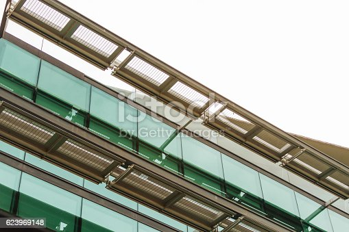 istock Detail of an office building with glass windows 623969148