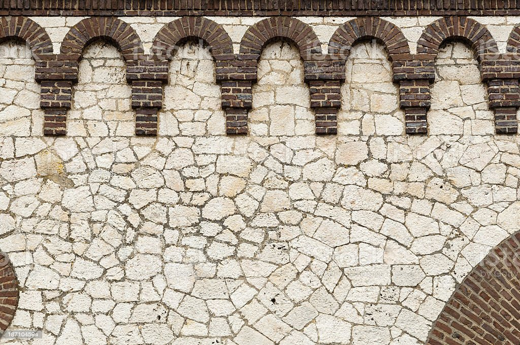 Detail of an old city wall, limestone royalty-free stock photo