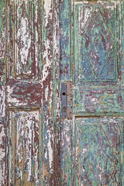 detail of an old door - detachment stock pictures, royalty-free photos & images