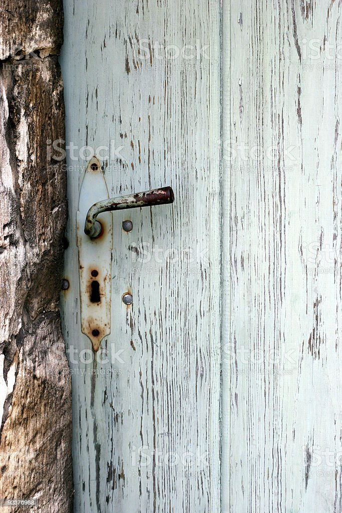 Detail of an old door royalty-free stock photo