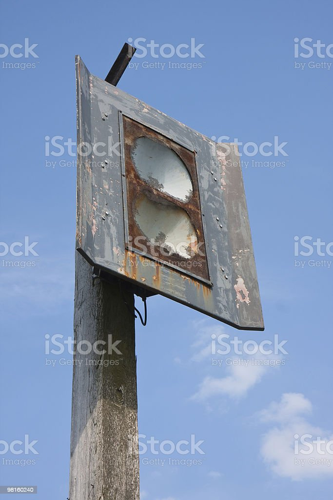 Detail of an old foghorn in the Netherlands royalty-free stock photo