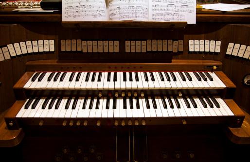 Detail of an organ in a church