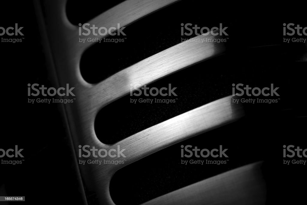 Detail of an Vintage Microphone stock photo