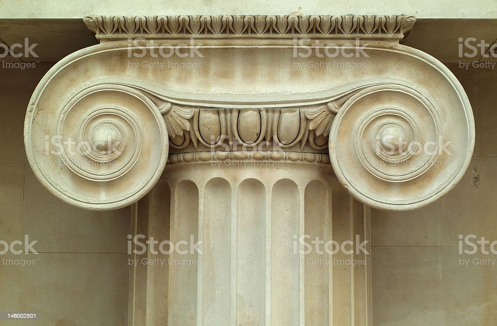 Detail of ancient column stock photo