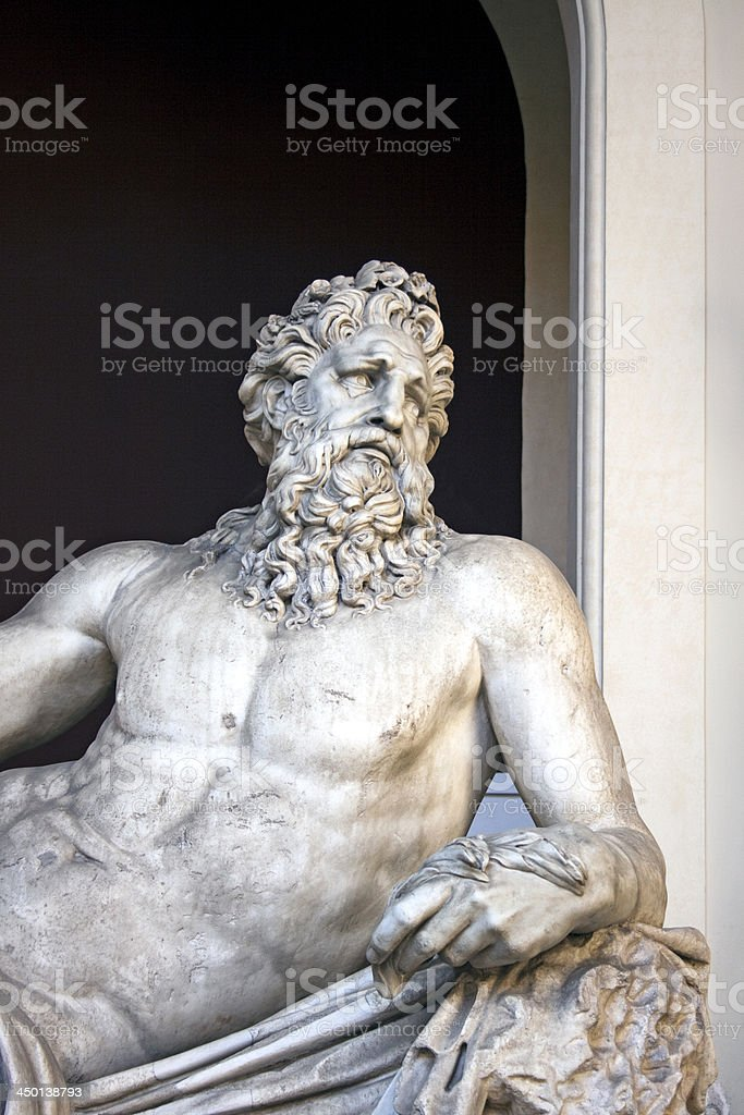 Detail of ancient sarcophagus, Vatican museum, Rome, Italy royalty-free stock photo