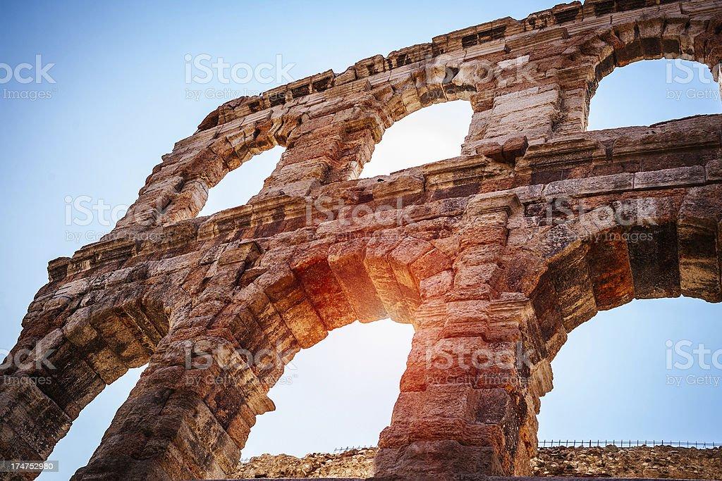 Dettaglio dell'Arena di Verona - foto stock