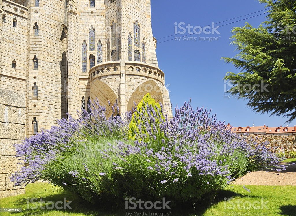 Detail of Astorga Episcopal Palace royalty-free stock photo