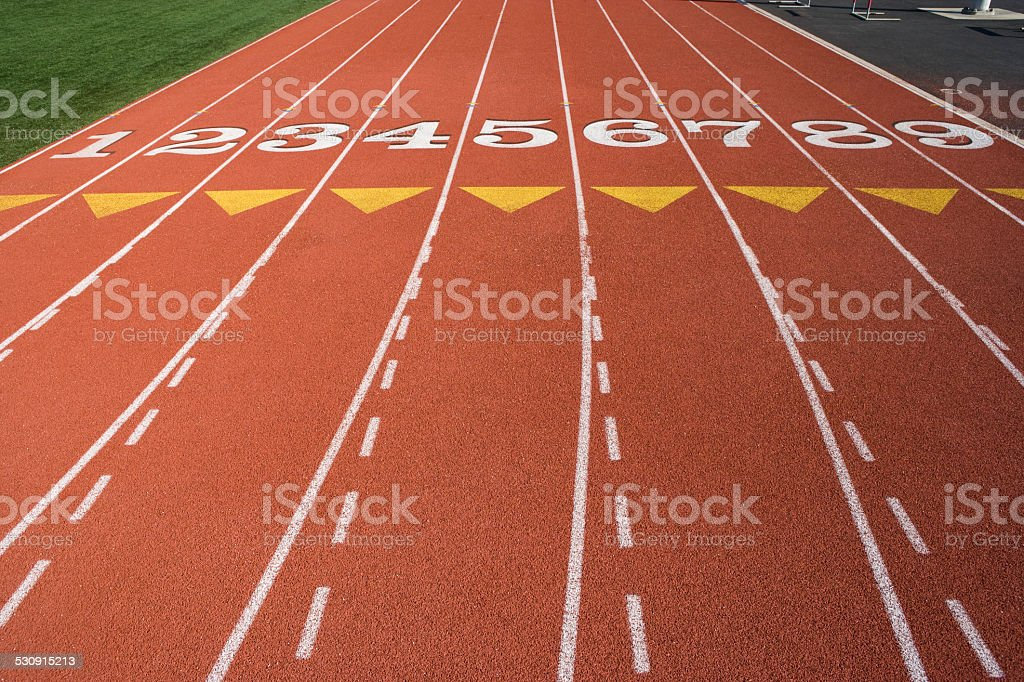Detail of athletic field stock photo