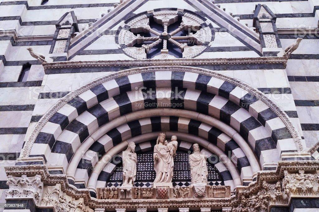 Vaftizhane Pistoia, Toskana detay royalty-free stock photo