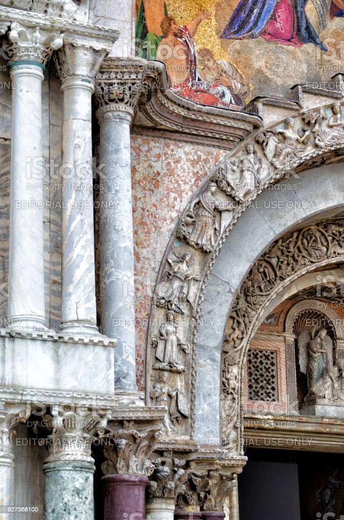 Detail of Basilica of San Marcos - Royalty-free Architecture Stock Photo