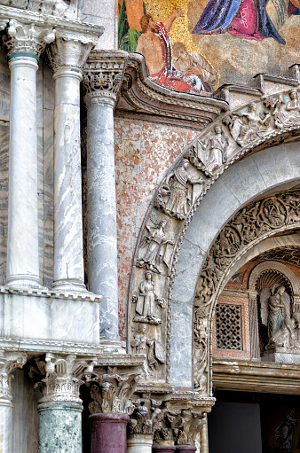 Detail Of Basilica Of San Marcos Stock Photo - Download Image Now