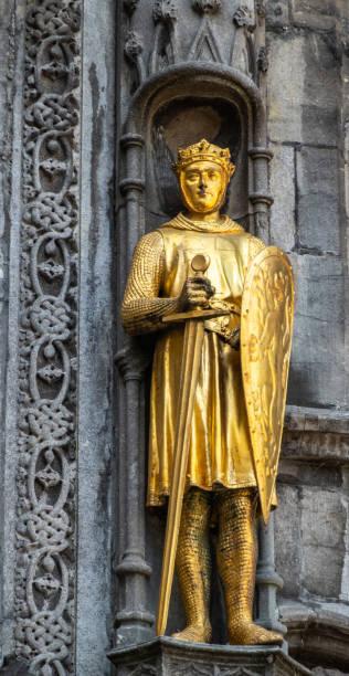Détail de la basilique de la façade du Saint-Sang à Bruges, Flandre, Belgique. - Photo