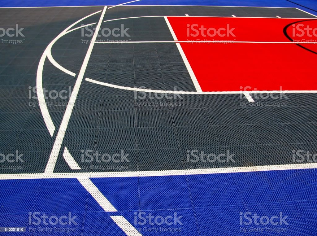 Volleyball Abstract Stock Photos Volleyball Abstract: Detail Of Basketball And Volleyball Ground Stock Photo