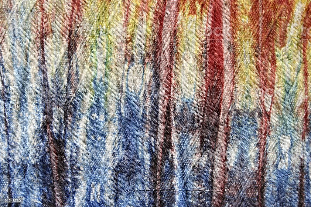 detail of batik textile stock photo