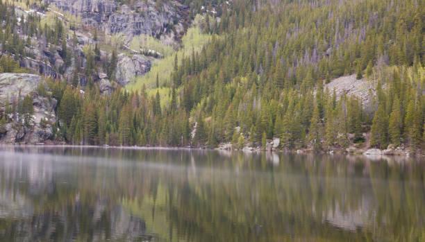 Detail of Bear Lake at Rocky Mountain National Park Detail of Bear Lake at Rocky Mountain National Park rocky mountain national park stock pictures, royalty-free photos & images