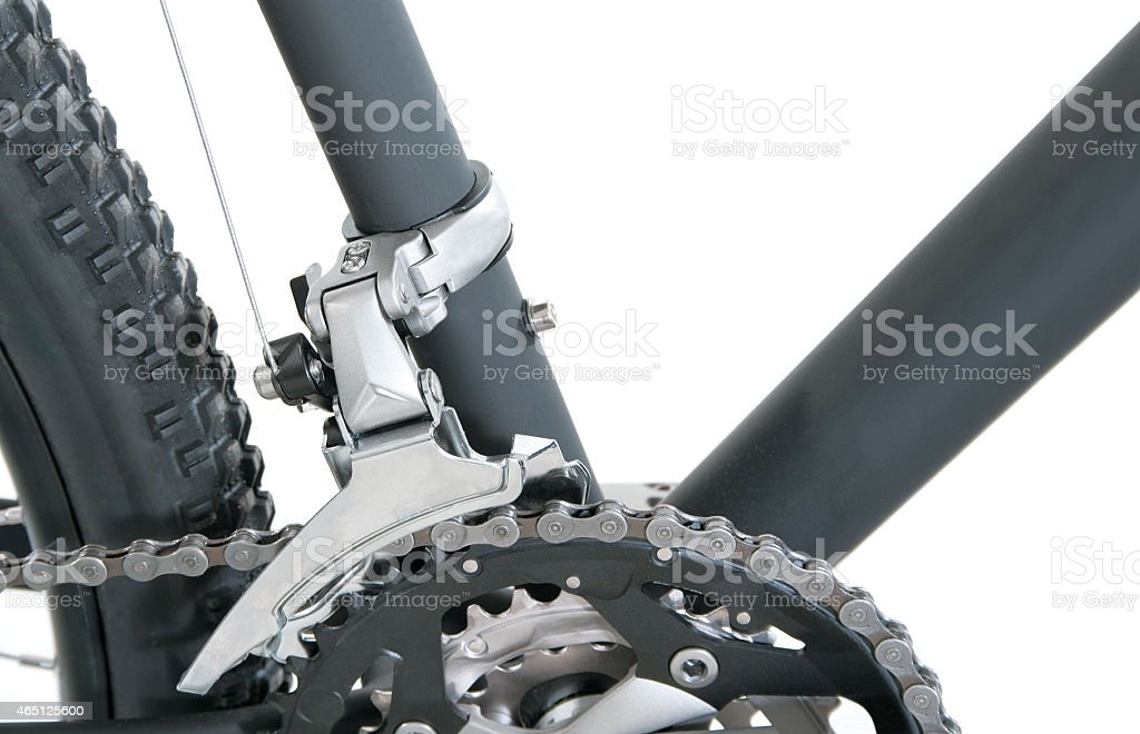 Detail of bicycle stock photo