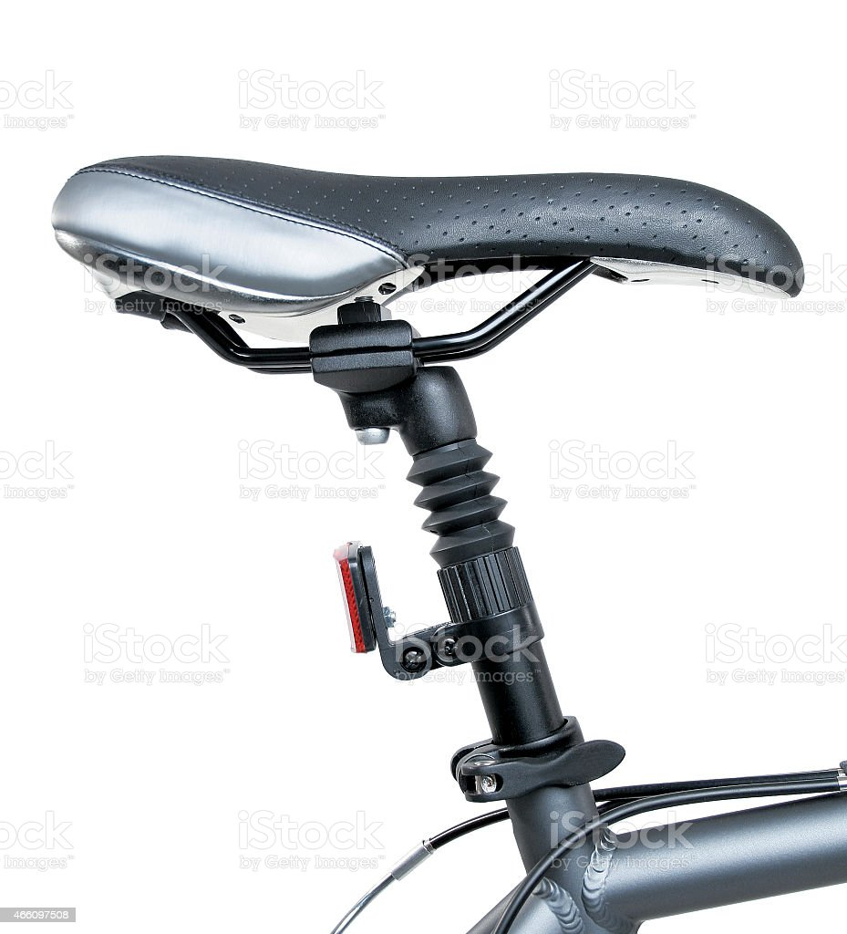 Detail of bicycle saddle stock photo